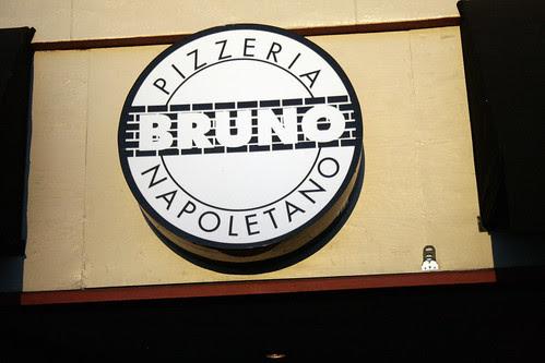 Pizzeria Bruno sign