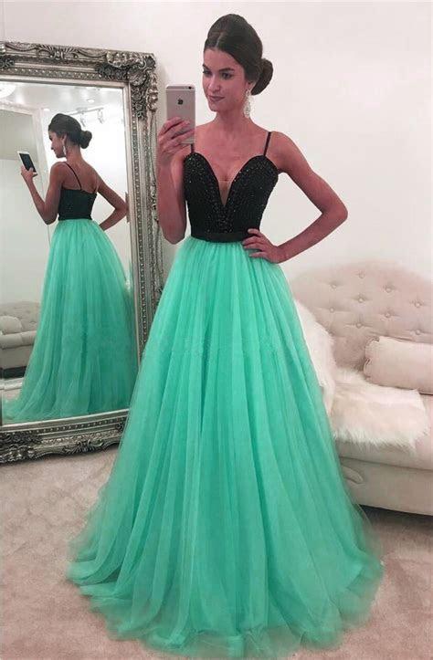 Mint Green Prom Dress, Elegant Prom Dress, A Line Prom