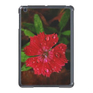 Red Dianthus With Raindrops iPad Mini Cover