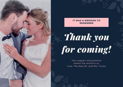 Customize 410  Thank You Card templates online   Canva