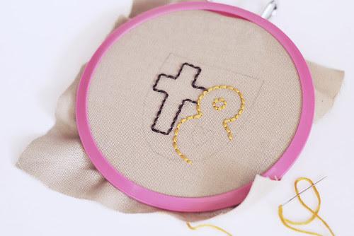 crest stitching