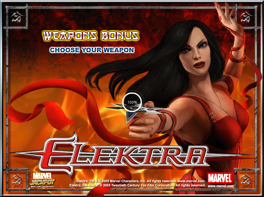 Игровой автомат Elektra – один из интереснейших видеослотов, выпускаемых известной компанией Playtech.Основой сюжета этой игры, как и некоторых других игр, стали комиксы компании Marvel.