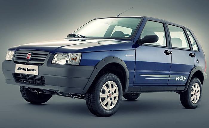 Fiat Mille Economy 1.0 flex Preço atual: R$ 21.360 Preço com novo IPI: R$ 21.787