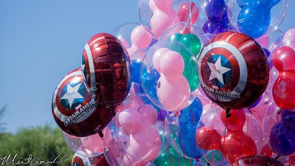 Disneyland Resort, Disneyland, Balloon, Captain America, Winter Soldier