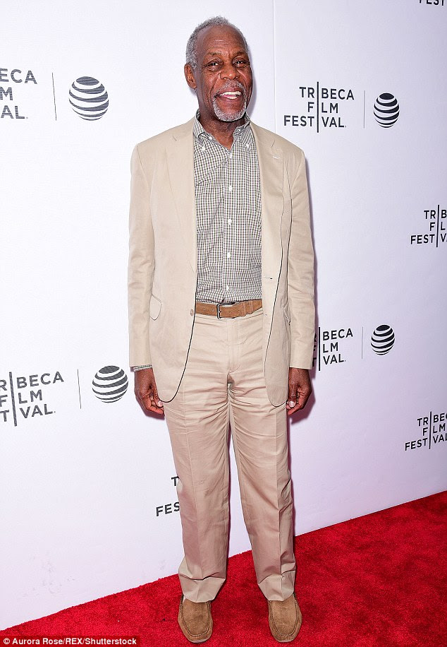 All smiles! Also at the red carpet premiere was five-time Emmy nominee Danny Glover, looking sharp in a tan suit