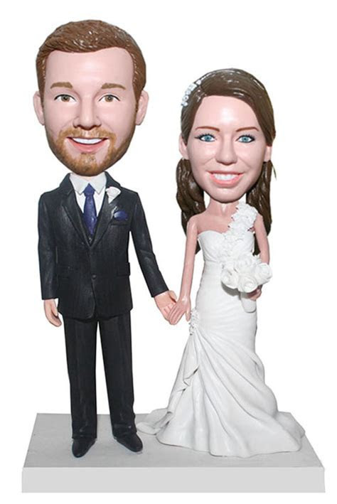 Cheap Customized Wedding Cake Topper bobbleheads Bride And