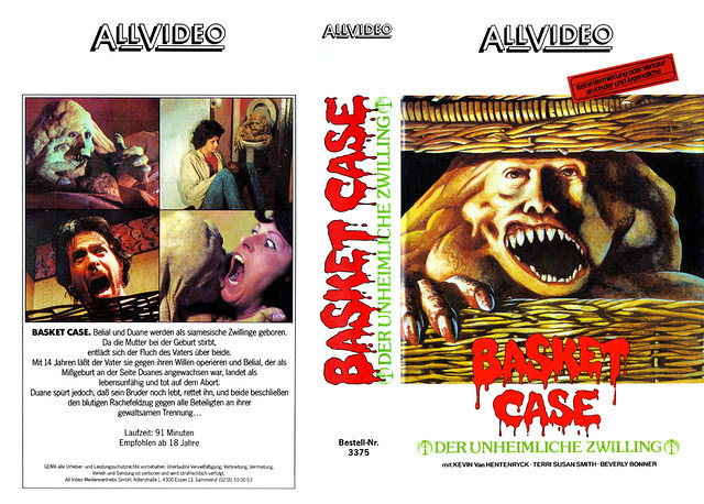Basketcase (VHS Box Art)