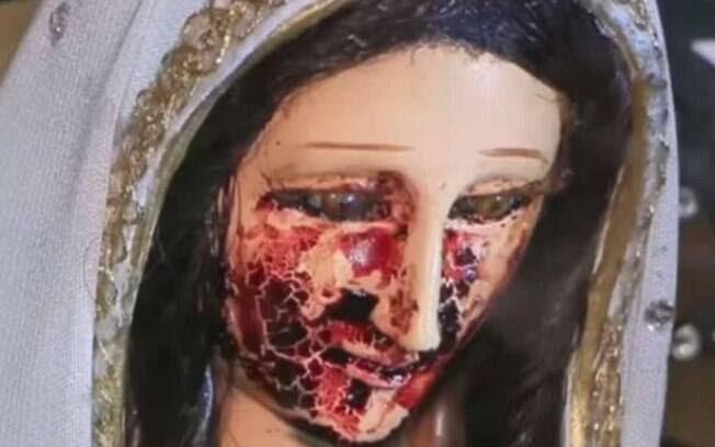 Homem no México, não indentificado, afirmou ter visto momento em que a estátua da Virgem Maria derramou lágrimas