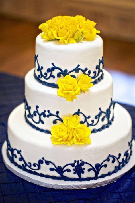 Blue and yellow wedding cake!   Wedding Ideas   Pinterest