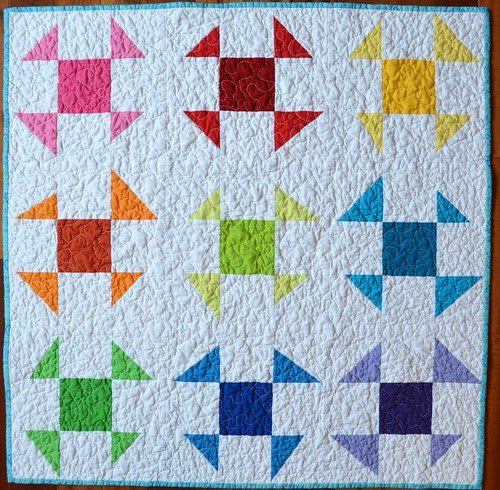 Liberated (emergency) Baby Quilt - Liberated Shoo Flies - front