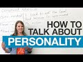 How to Talk about Personality