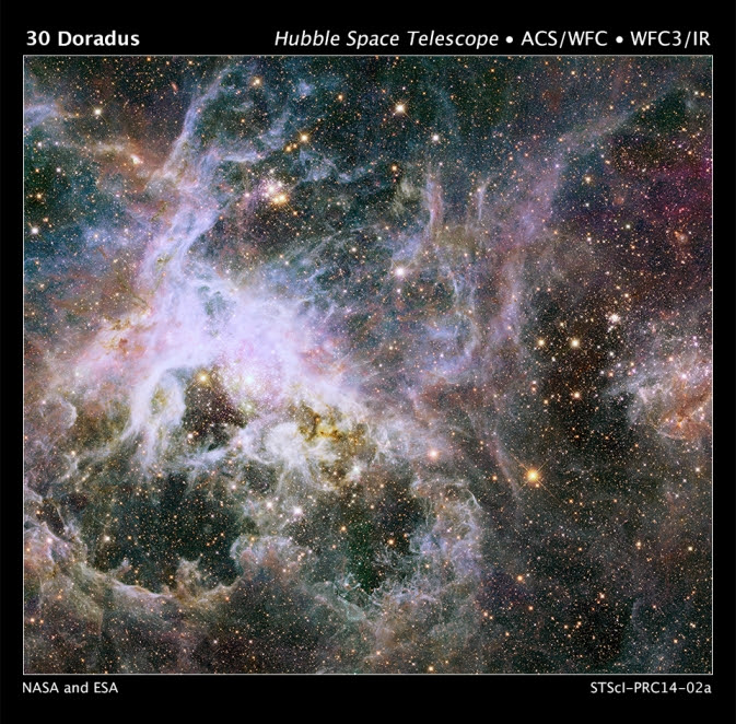 Hubble image of the Tarantula Nebula