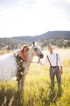 unique outdoor bridal shoot with horses, cowboy boots