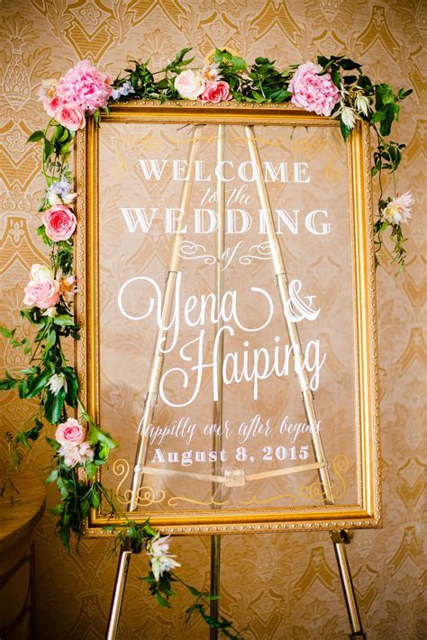 Welcome Board   Event Planning, Styling & Design: Manna