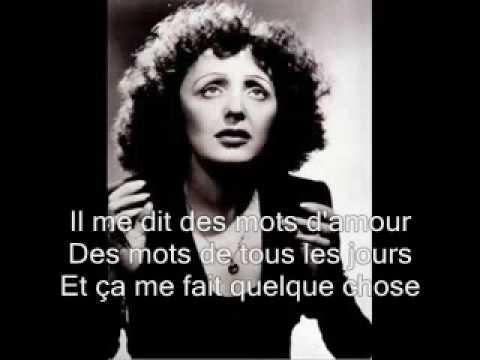 La Vie En Rose Lyrics Edith Piaf