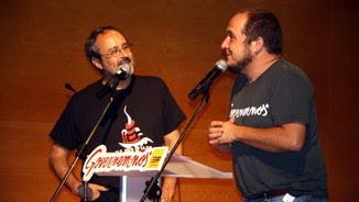 Els exdiputats de la CUP Baños i Fernàndez, junts en un acte l'any passat a Tarragona (ACN)