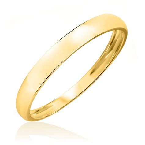No DiamondsMen's Wedding Band 10K Yellow Gold   My Trio
