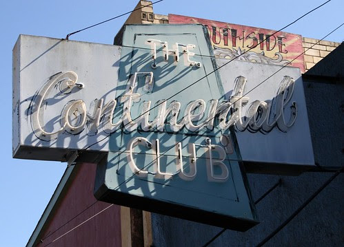 the continental club neon sign