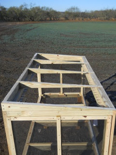 Meat Dryer Roof Rafters/Blocks, Top View
