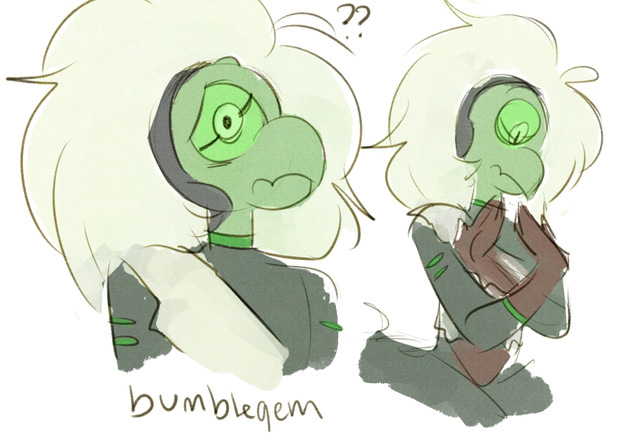 some messy centis from the ep and then a design based on the drawings of herself and what we saw of her