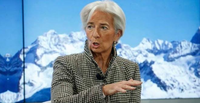 Christine Lagarde durante su intervención en Davos.   REUTERS (RUBEN SPRICH)