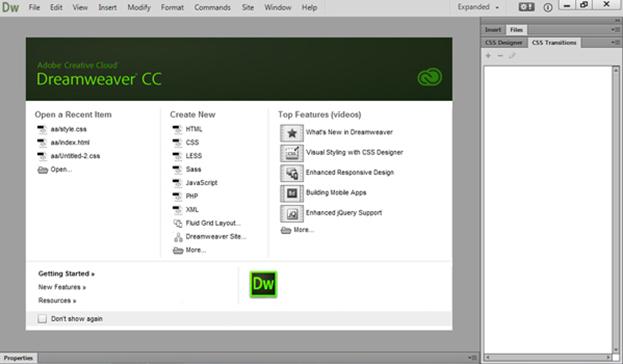 Make Your Own Site Using Dreamweaver CC