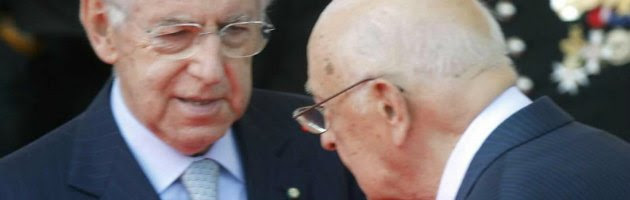 Mario Monti e Giorgio Napolitano