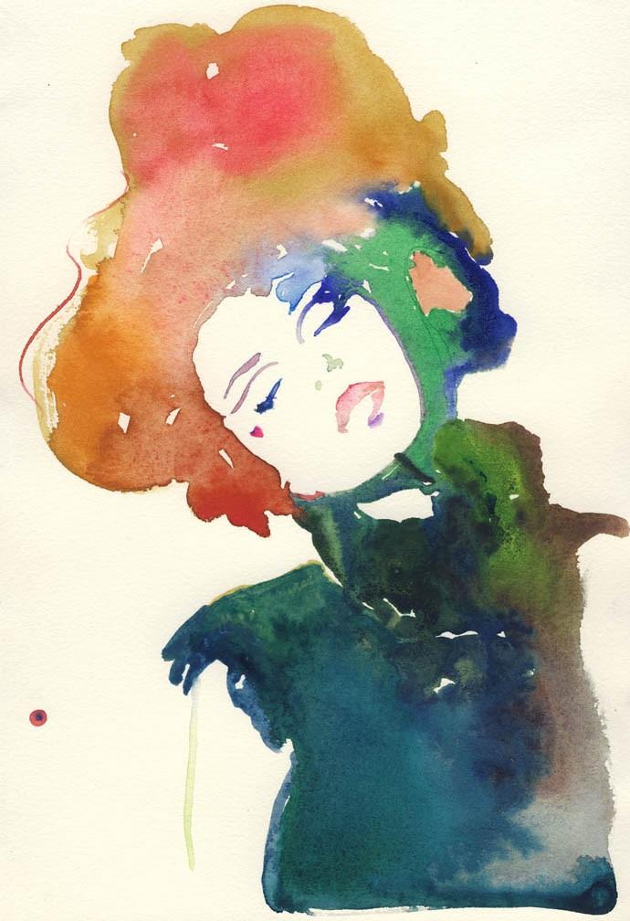 Etsy, silverridgestudio, illustration, art, fashion, print, watercolor, beautiful