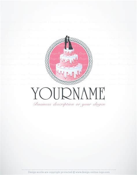 Exclusive Design: Wedding Cake Logo   Compatible FREE