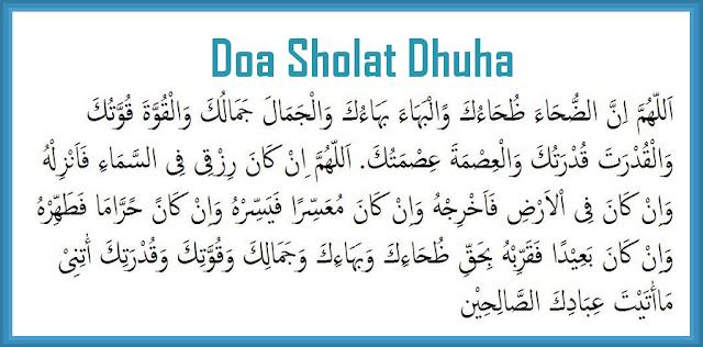 Niat Bacaan Lengkap Dan Doa Sholat Dhuha Laci Kopak