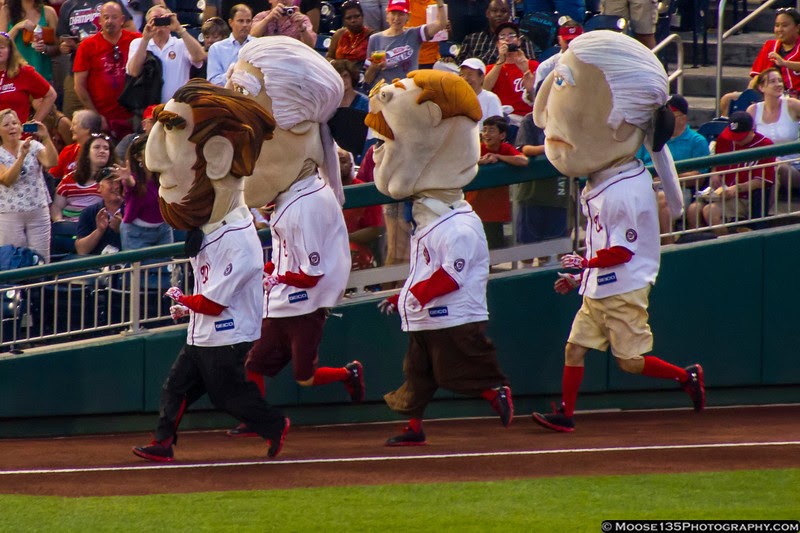July 26 - The Presidents Race at Nationals Ballpark, Washington DC.