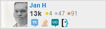 profile for Jan H on Stack Exchange, a network of free, community-driven Q&A sites