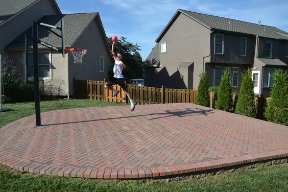 backyard basketball court ideas 25