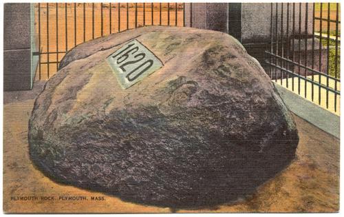 MASSACHUSETTS Plymouth - Plymouth Rock - 1940s