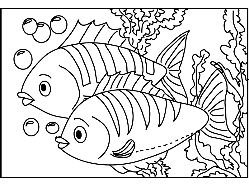 rizkimuftygo: Fish Coloring Pages For Kids