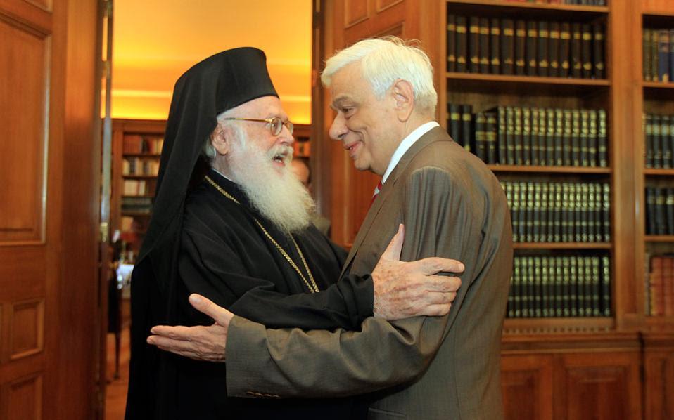Εξήρε το έργο του Αρχιεπισκόπου ο Πρόεδρος της Ελληνικής Δημοκρατίας.