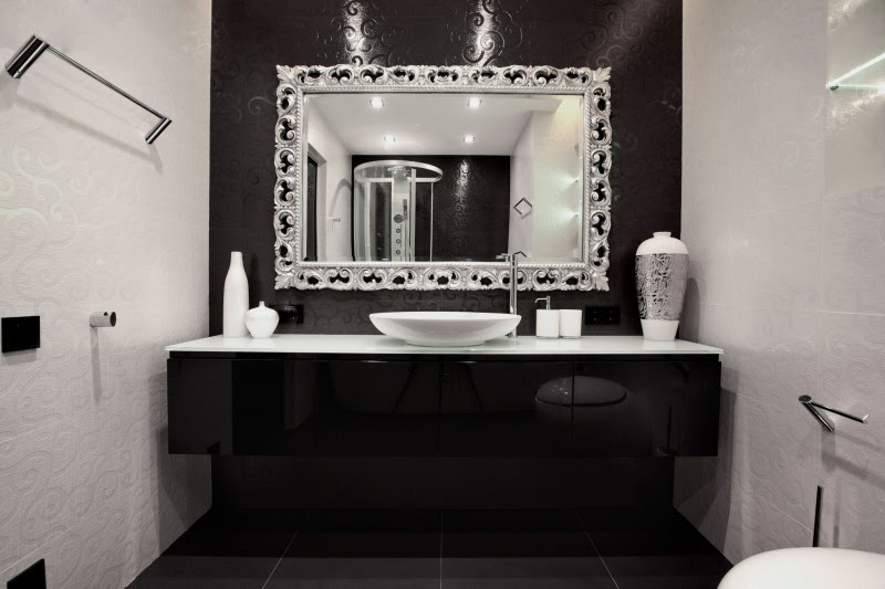 Black And White Bathroom Decor Project Begovaya Stunningly Stylish Interiors In Striking