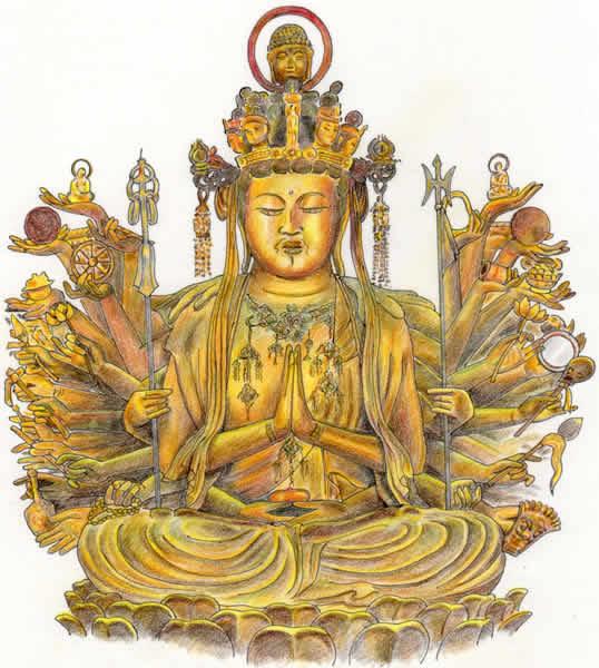 三十三間堂千手観音坐像 京都の仏像 京都じっくり観光