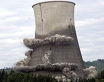 Rojan Nuclear Cooling Tower Imploded at Rainier, Oregon - May 21, 2006