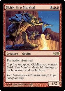 MTG Magic the Gathering Red Magic 2012 Goblin Chieftain