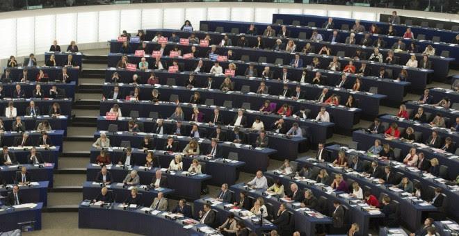 Pleno del Parlamento Europeo en Estrasburgo, Francia. EFE