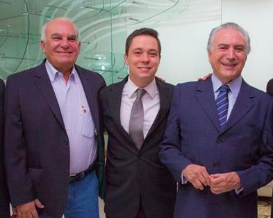 Arlon Viana, Edson Moura Júnior e Michel Temer