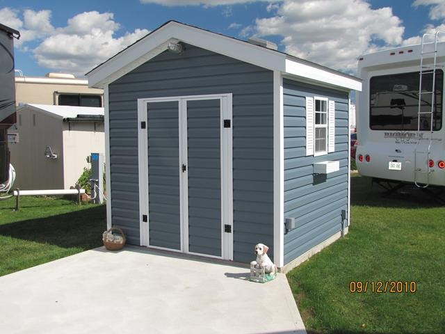 How To Build A Shed Door With Vinyl Siding Outdoor Ideas
