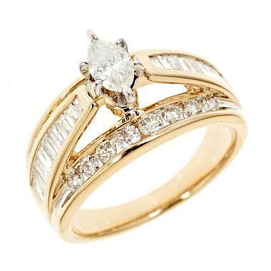 1.45 CT. T.W. Marquise Diamond Engagement Ring in 14K