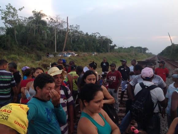 As operações de transporte de carga e de passageiros da ferrovia está paralisada. Foto: CPT-Divulgação
