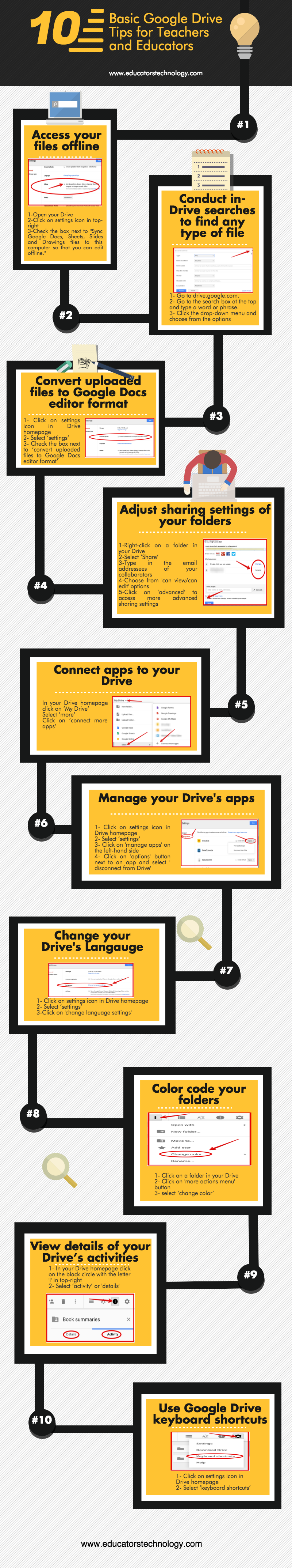 google drive tips for teachers