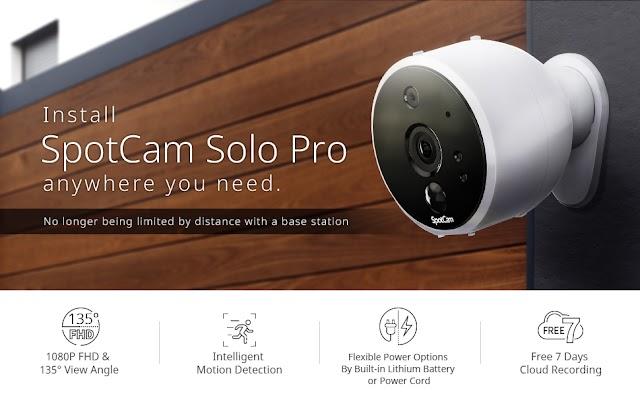 【IP CAM 推介】SpotCam Solo Pro 無線網絡攝錄機 全方位看清屋內環境