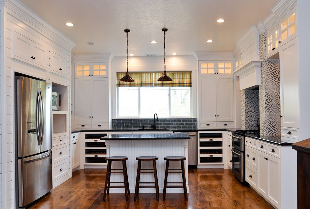 Solid Wood Shaker Kitchen Cabinets SWK-066   Houlive solid ...