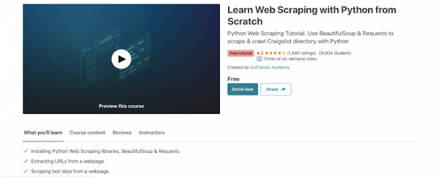 Learn Web Scraping with Python from Scratch | Free Premium Course