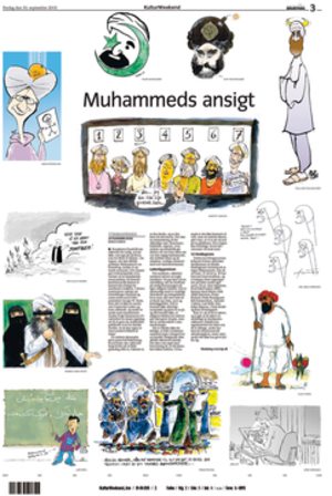 Controversial cartoons of Muhammad, first publ...